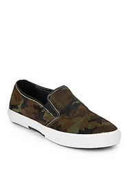 Kenneth Cole Reaction Camo Print Calf Hair Slip On Sneakers