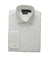 Lauren Ralph Lauren Pinpoint Spread Collar Slim Shirt W French Cuff White Men's Long Sleeve Button Up