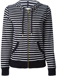 Michael Michael Kors Striped Hoodie Blue