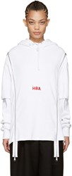 Hood By Air White Thermal Double Zip Hoodie