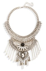 Junior Women's Leith Stone And Spoon Charm Statement Necklace
