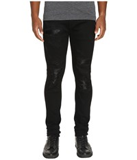 God's Masterful Children Amadeo Ripped Leather Jeans Black Men's Jeans