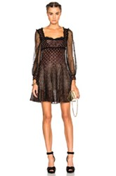 Alexander Mcqueen Mini Empire Dress In Black Abstract Black Abstract