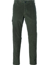 Incotex Slim Fit Cargo Trousers Green