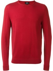 A.P.C. 'Charles' Pullover Sweater Red