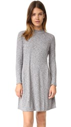 Madewell Zoey Knit Mock Neck Marled Dress Heather Gravel