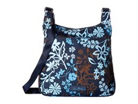 Vera Bradley Lighten Up Slim Crossbody Java Floral Cross Body Handbags Black