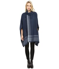 Echo Shawl Collar Ruana Navy Women's Clothing