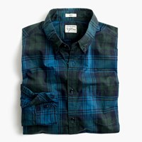 J.Crew Slim Secret Wash Shirt In Heather Poplin Green Plaid Hthr Green