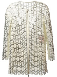 Moncler Gamme Rouge Chain Effect Blazer Nude And Neutrals