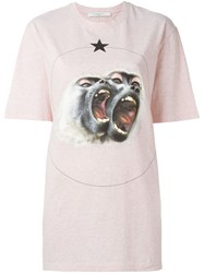 Givenchy Monkey Brothers Printed T Shirt Pink And Purple