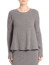 Akris Punto Rib Knit Wool And Cashmere Trapeze Zip Back Sweater Cliff