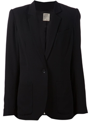 L'agence One Button Blazer Black