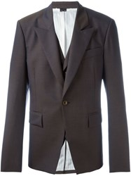 Vivienne Westwood One Button Blazer Brown