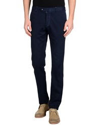 Isaia Trousers Casual Trousers Men Dark Blue
