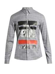 Mcq By Alexander Mcqueen Prince Of Wales Checked Cotton Shirt Grey Multi