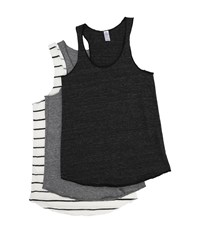 Alternative Apparel Meeg's Racerback Tank Bundle Eco Black Eco Grey Eco Ivory Ink Stripe Women's Sleeveless