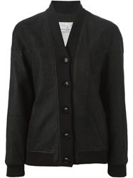 Golden Goose Deluxe Brand Leather Buttoned Jacket Black
