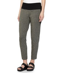 Halston Heritage Tapered Sweatpants Dark Heather Charcoal Women's Size 4 Dk Heather Charco