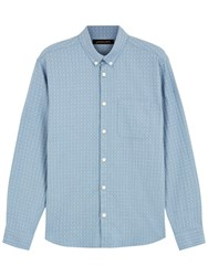 Jaeger Dobby Check Shirt Airforce Blue