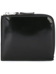 Comme Des Garcons Wallet Varnished Zip Purse Black