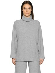 Emporio Armani Wool Cashmere Blend Rib Knit Sweater