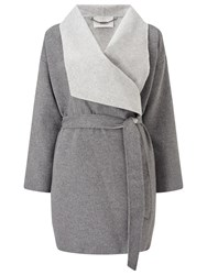 Jacques Vert Double Faced Coat Mid Grey