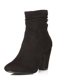 Dorothy Perkins Amelie Ruched Boots Black