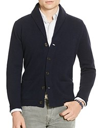 Polo Ralph Lauren Wool Shawl Collar Cardigan Sweater Navy