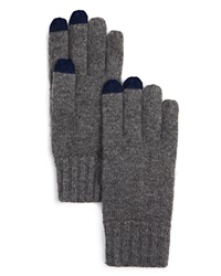The Men's Store At Bloomingdale's Knitted Tech Gloves Grey Pacfic Blue
