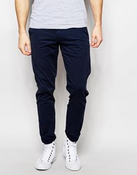 Selected Homme Chinos In Skinny Fit Blue