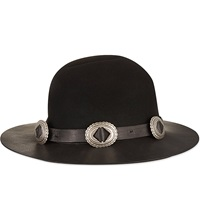The Kooples Chapeau Buckled Hat Black