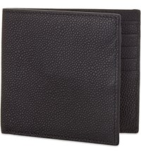 Reiss Gillis Leather Billfold Wallet Black