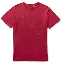Saturdays Surf Nyc Slim Fit Script Print Cotton Jersey T Shirt Burgundy