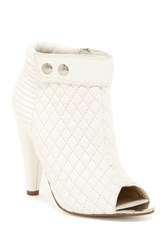 Kristin Cavallari By Chinese Laundry Larissa Quilted Open Toe Bootie White