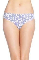 Calvin Klein Women's 'Invisibles' Print Thong Simplicity Floral