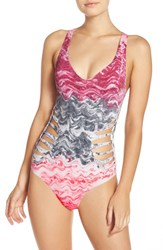 Becca Women's 'Cosmic' Cutout One Piece Swimsuit