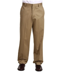 Dockers Signature Khaki D4 Relaxed Fit Flat Front Dark Khaki Men's Dress Pants