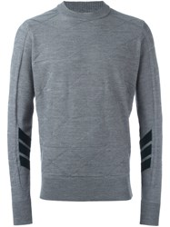 Oamc Textured Pattern Pullover Grey