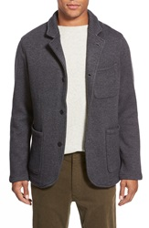Relwen Knit Cardigan Blazer Dark Grey