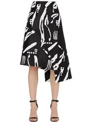 Cameo Night Changes Printed Skirt
