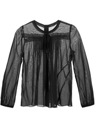 Marc Jacobs Pleated Voile Blouse Black