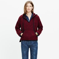 Madewell Brushed Houndstooth Hoodie