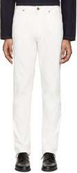 Christophe Lemaire Off White Straight Leg Jeans