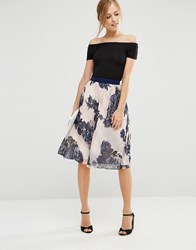 Little Mistress Floral Midi Skirt Floral Multi