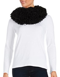 Madison 88 Faux Fur Loop Scarf Black