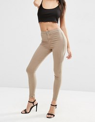 Asos Rivington High Waist Denim Jegging In Kimmy Brown Kimmy Brown