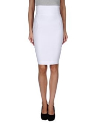 Gaetano Navarra Knee Length Skirts White
