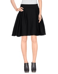 Mangano Knee Length Skirts Black