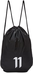 11 By Boris Bidjan Saberi Ssense Exclusive Black Drawstring Bag